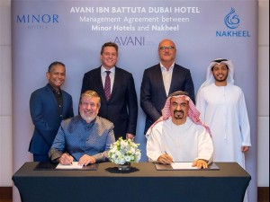 Nakheel Minor agreement signing pix