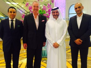 Mr Ferghal Purcell, COO of HMH welcomes the new GM of ATDD, Mr Saleh Mohamed Al Geziry at Bahi Ajman Palace Hotel