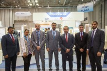 Dubai Cruise Tourism officials with other members of the Cruise Arabia delegation at Seatrade Europe