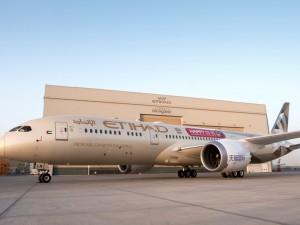 Etihad Airways' B787 Dreamliner with the Tmall 11.11 branding
