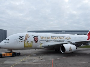 Emirates livery flight