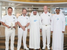 Representatives from DTCM, Dubai World and Crystal Cruises on Crystal Symphony