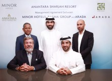 CEOs of Minor Hotels, Basma Group and ARADA with company Chairmen