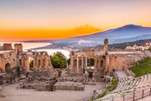 The Greek Theater of Taormina, Catania, Italy