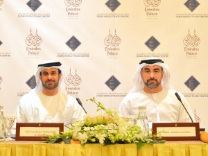 (L - R) His Excellency Sultan Dahi Al Hameeri, Managing Director of EPCO and Mahir Julfar, Senior Vice President - Venue Services Management, DWTC.
