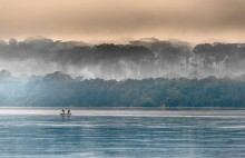 Morning fog on the African Congo River