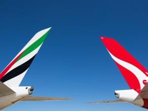 Emirates Qantas image