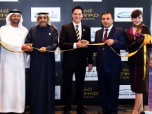 PHOTO 2 Etihad Airways ribbon-cutting ceremony for Baku inaugural flight