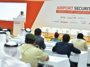 Major General Mohammed Al Marri addressing the audience at the Airport Security Middle East