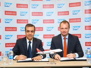 Adel Al Ali, Group CEO, Air Arabia & Julien Bertin, Managing Director, SAP during signing ceremony