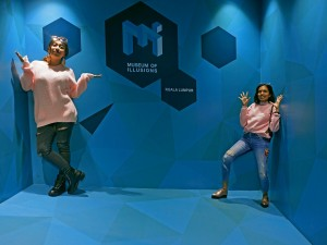 The Ames Room at the Museum of Illusions
