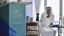 His Excellency Mohammed H. Alshaali, Chairman of Gulf Craft, at the Middle East Yachting Conference