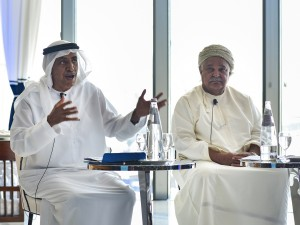 His Excellency Mohammed H. Alshaali (left) and Dr Mohammed Al Barwani (right)