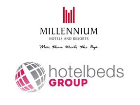 LOGO COMBINED- Millenium Hotels and HOtelbeds Group