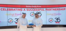 From left Ahmed AlRayyes, Chief Commercial Officer, DXB Entertainments and Salah Tahlak, Dubai Duty Free Executive Vice President - Corporate Services