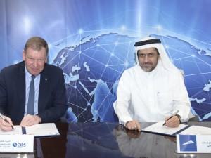 ممثلو الطرفين أثناء توقيع الاتفاقية