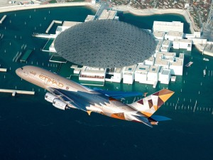 ETIHAD AIRWAYS A380 LOUVRE ABU DHABI FLY-BY LOW RES