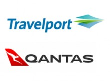 travelport and qantas logo