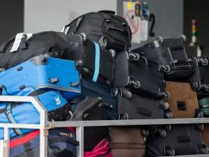 Baggage awaiting loading