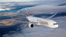 Emirates 777-300ER Air to Air